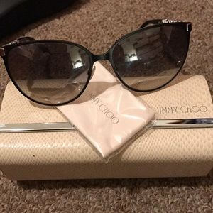 Stunning Jimmy Choo leopard glitter sunglasses